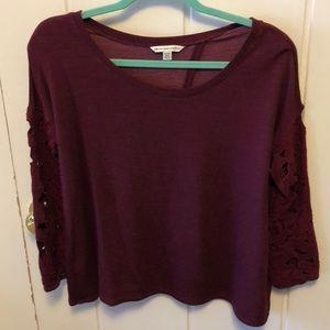 American Eagle size medium, burgundy top